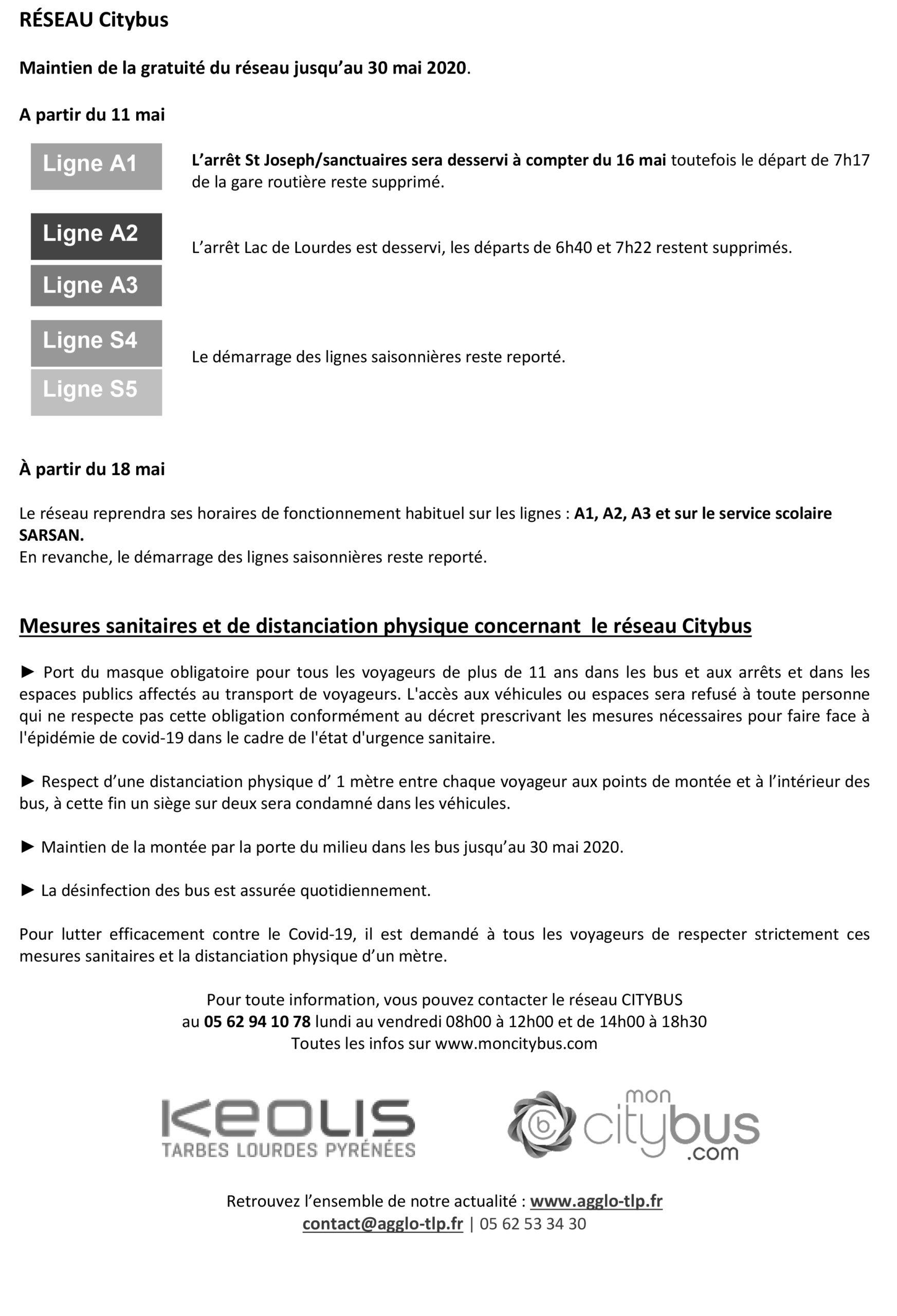 Mise à jour communiqué de presse Mesures confinement réseau transport AGGLO TLP