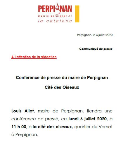 Conférence de presse de Louis Aliot à la cité des Oiseaux