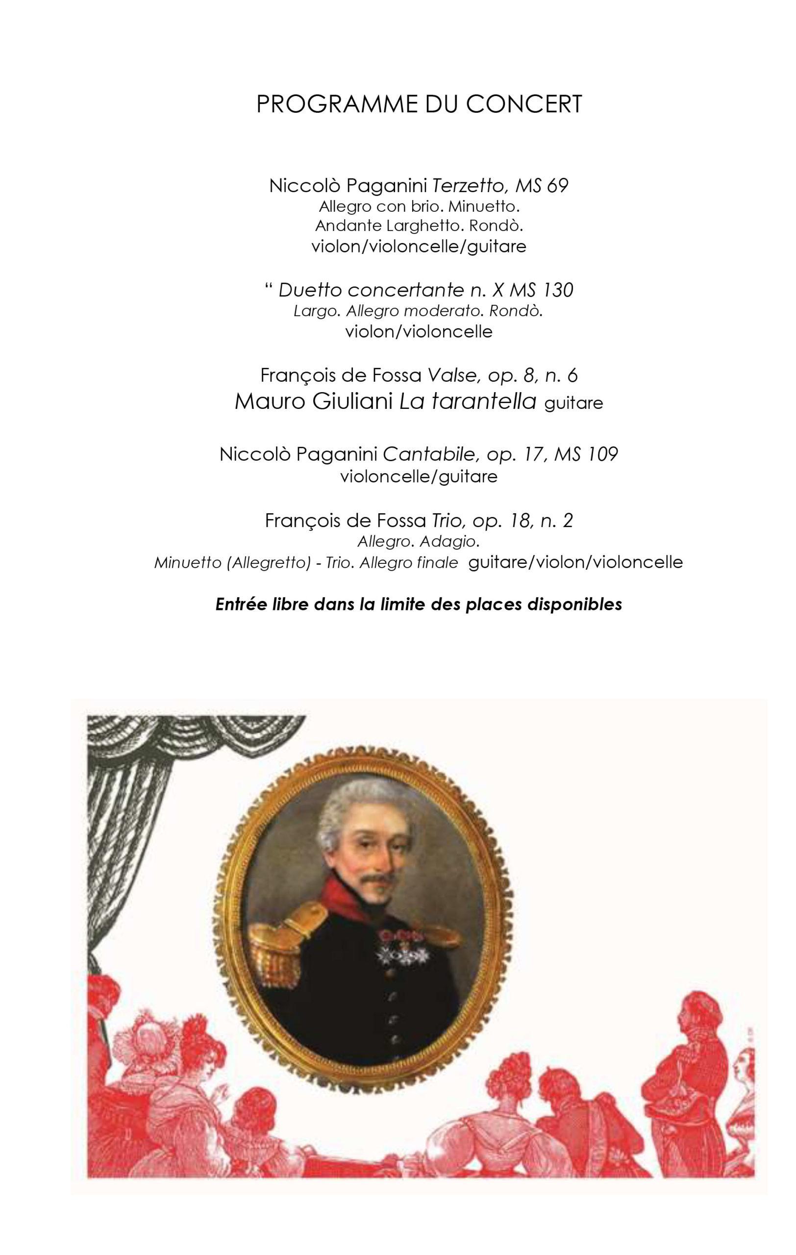 CP Concert« François de Fossa et Niccolò Paganini, la rencontre »