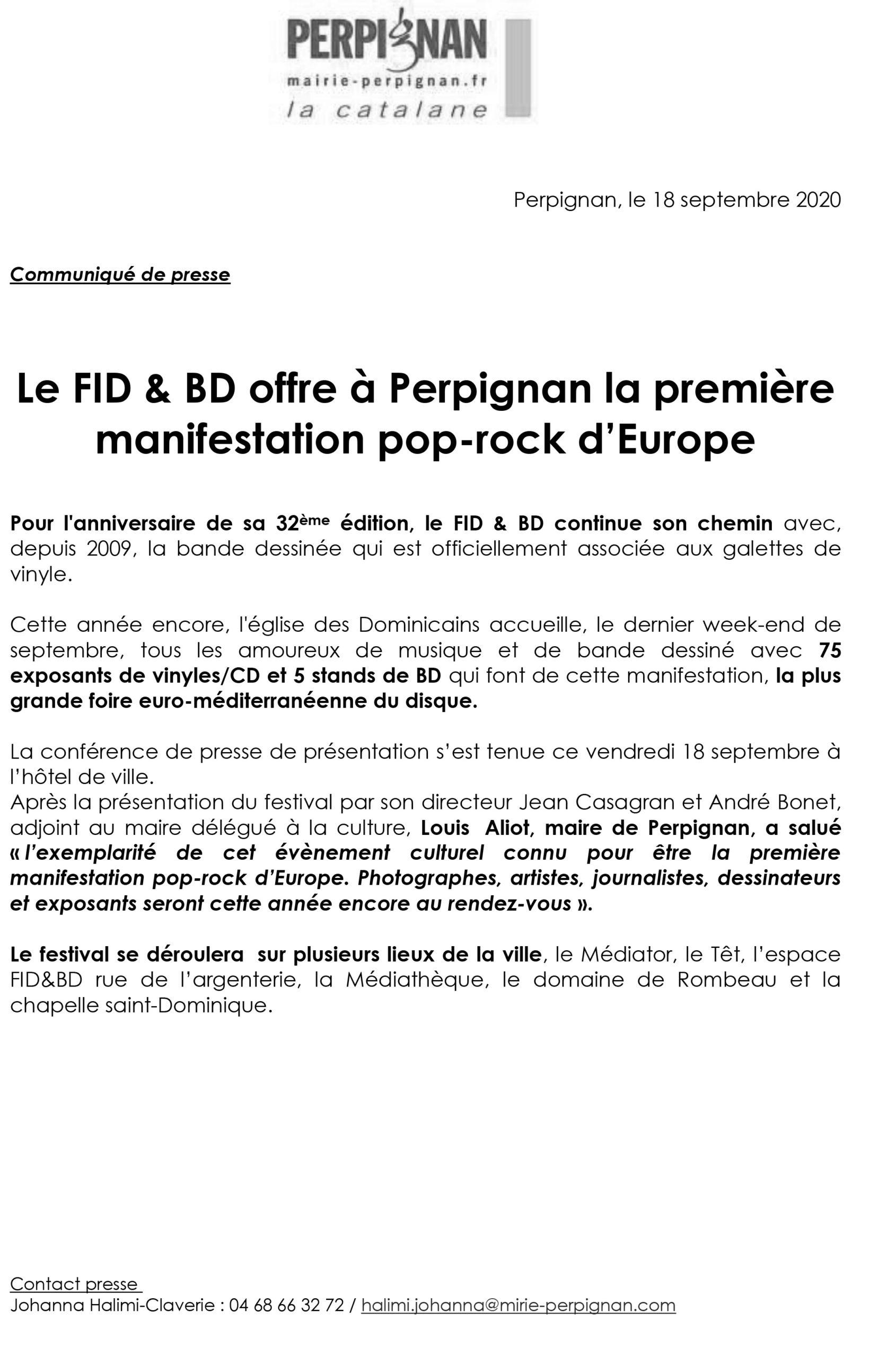 Le FID & BD offre à Perpignan la première manifestation pop-rock d'Europe