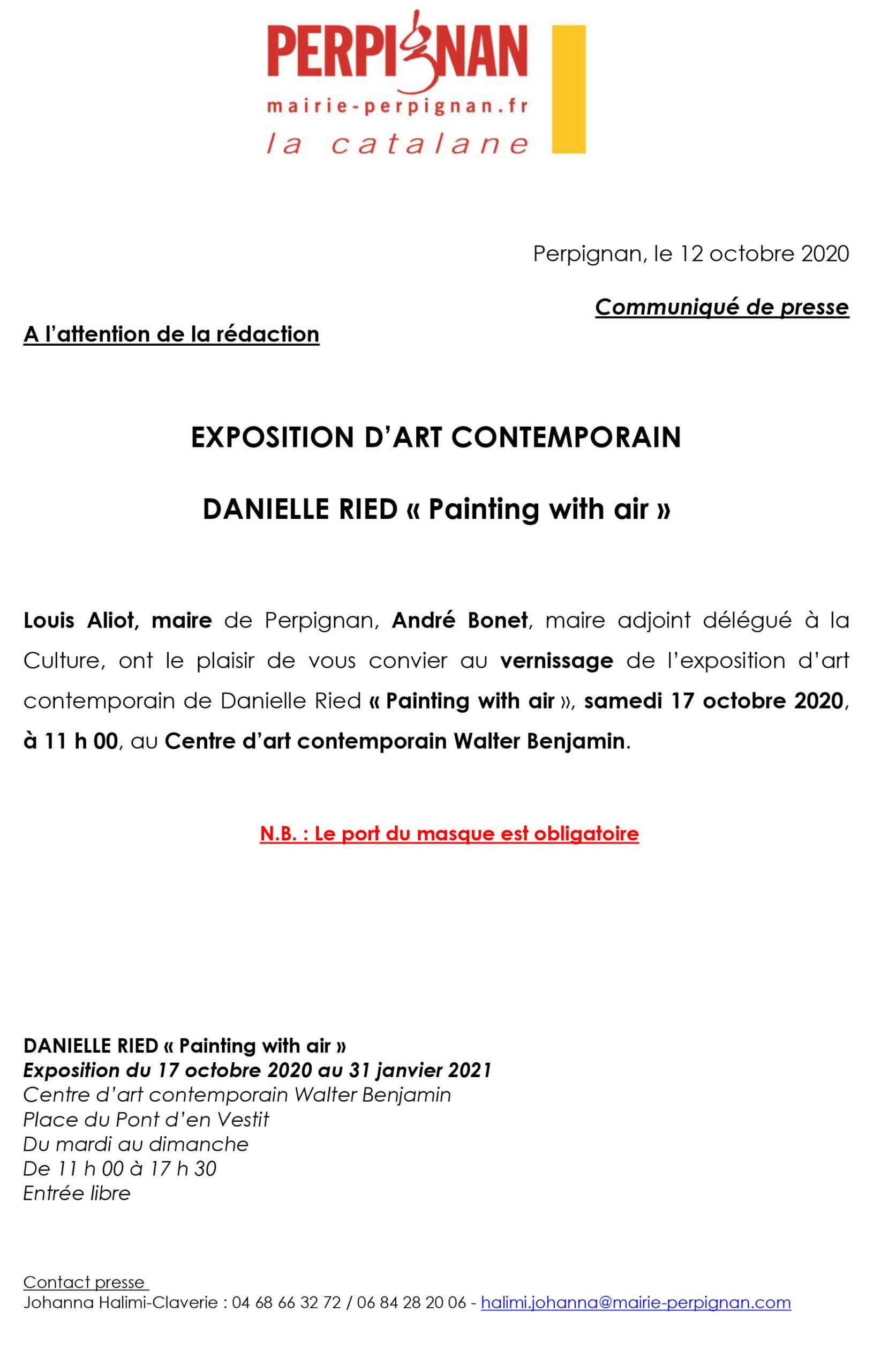 Exposition Danielle Ried Centre d'art contemporain – PERPIGNAN