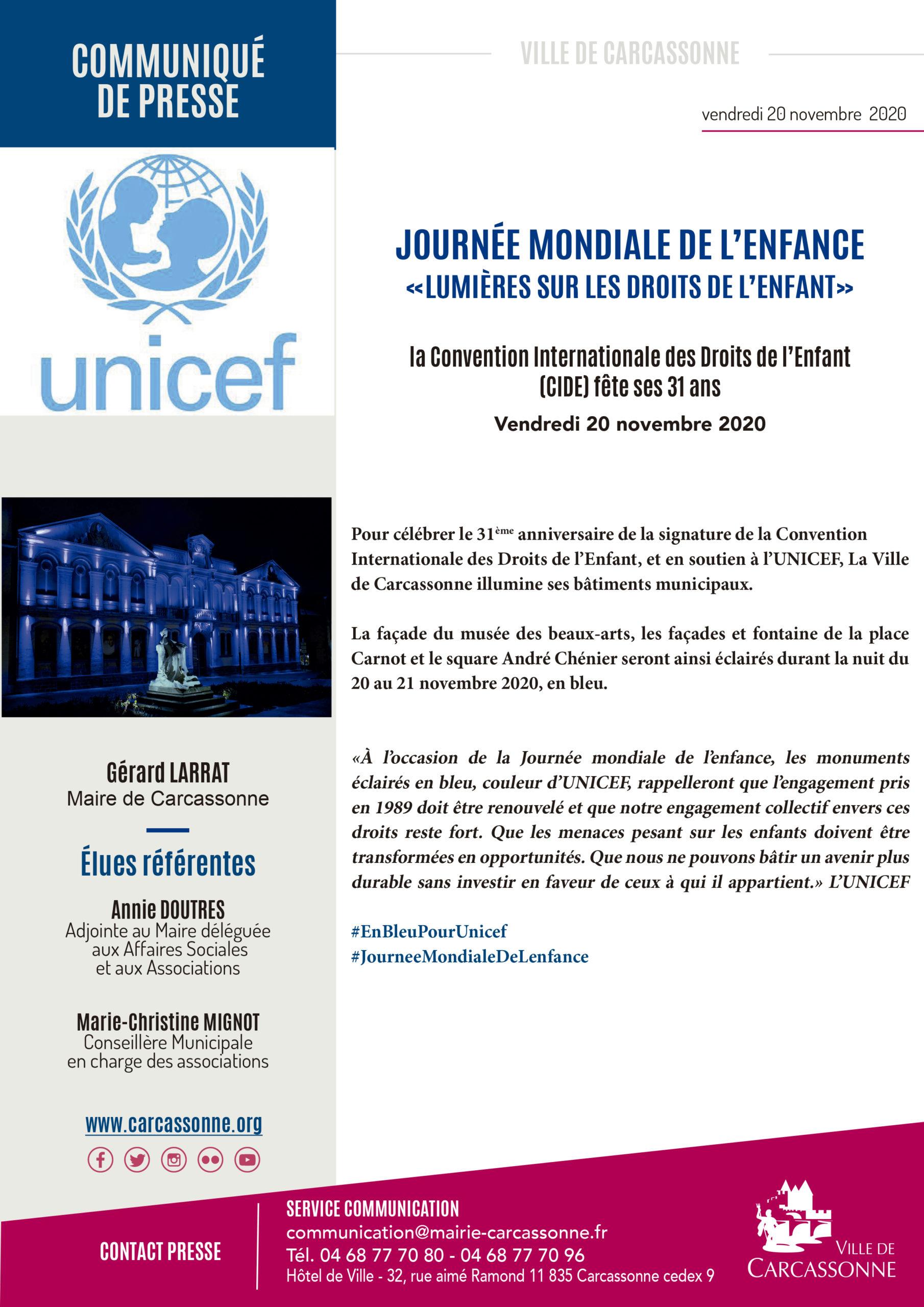 Info presse : Lumières sur les droits de l'enfant