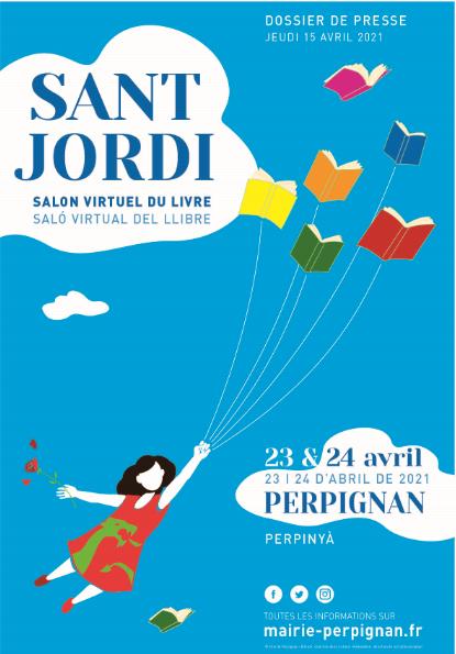 Communiqué de presse – Sant Jordi, salon virtuel du livre à Perpignan